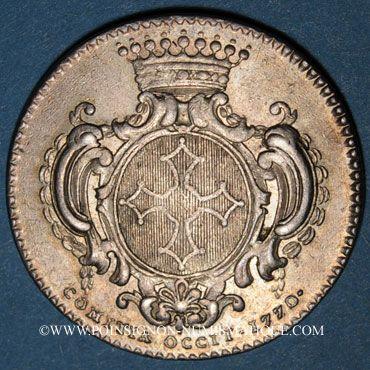 Monnaies Etats du Languedoc. Jeton argent 1770
