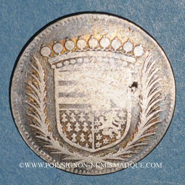Monnaies Forez. Gaspard Hérail de Pierrefort, comte de la Roue et Claude de Talaru-Chalmazel. Jeton argent