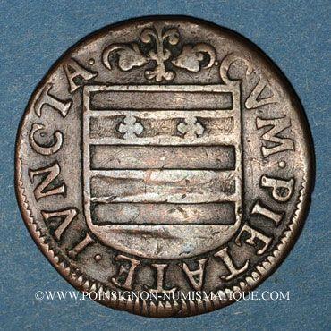 Monnaies Franche-Comté - Besançon. Co-gouverneurs. Pierre François de Jouffroy. Jeton cuivre 1667