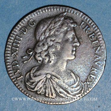 Monnaies Hainaut. Dunkerque. Louis XIV (1643-1715). Jeton cuivre n. d.