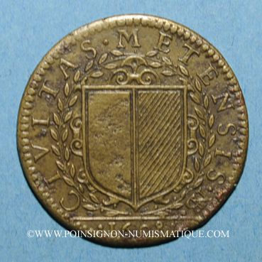 Monnaies Lorraine. Metz. Henri IV. Jeton cuivre 1608
