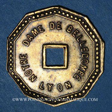 Monnaies Lyon (69). Société de Saint Louis de Gonzague. Notre Dame de Bellecombe. Jeton publicitaire