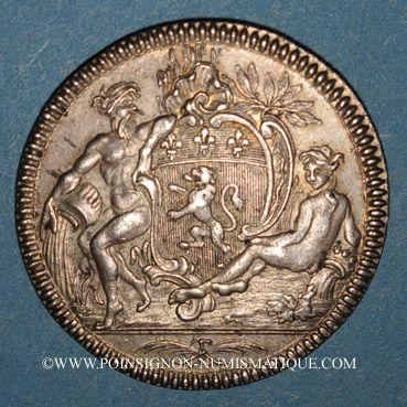 Monnaies Lyon. Ex-consuls. Jeton argent 1756