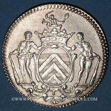 Monnaies Lyon. Série Municipale. François de la Rochefoucault, marquis de Rochebaron. Jeton argent vers 1740