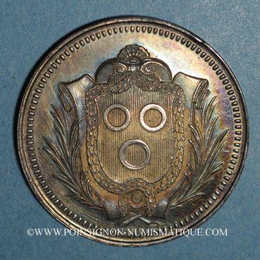 Monnaies Mâcon. Caisse  d'Epargne. Jeton argent rond (1834)
