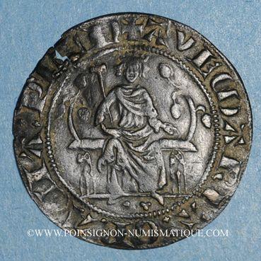 Monnaies Moyen-âge. Jeton de compte au type de la chaise d'or de Philippe IV