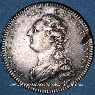 Monnaies Notaires. Paris. Louis XVI. Jeton argent. Gravé par Droz