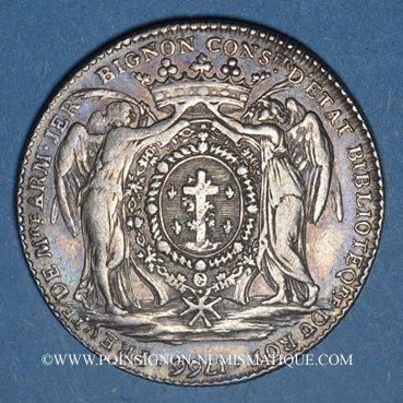 Monnaies Paris. A. Bignon, prévôt des marchands. Jeton argent 1766
