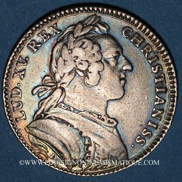 Monnaies Paris. Assemblée du Clergé de France. Louis XV. Jeton argent 1750. R !