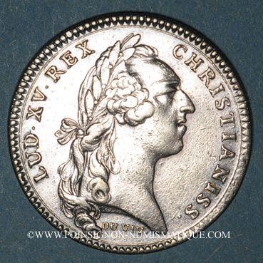 Monnaies Paris. Assemblée du Clergé de France. Louis XV. Jeton argent 1755