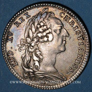 Monnaies Paris. Assemblée du Clergé de France. Louis XV. Jeton argent 1762