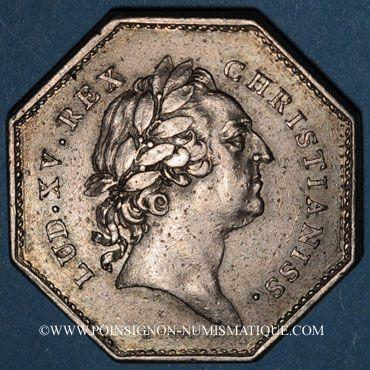 Monnaies Paris. Assemblée du Clergé de France. Louis XV. Jeton argent 1772