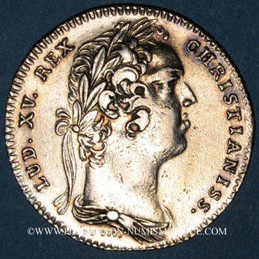 Monnaies Paris. Distillateurs. Louis XV. Jeton argent