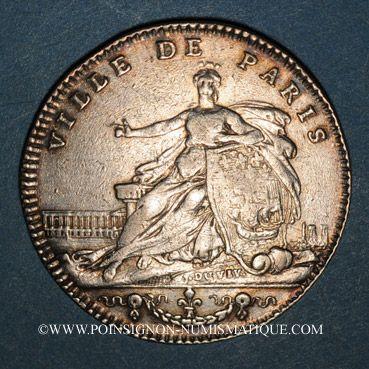 Monnaies Paris. J. B. Elie Camus de Pontcarre, seigneur de Viarme. Jeton argent 1763