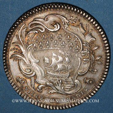 Monnaies Paris. Louis Bazile de Bernage, prévôt des marchands. Jeton argent 1746
