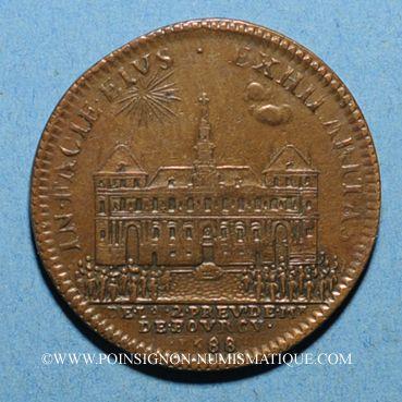 Monnaies Paris. Prévôts des marchands. H. de Fourcy. Jeton cuivre 1688