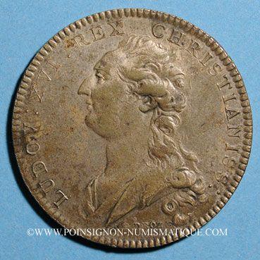 Monnaies Paris. Traiteurs, pâtissiers, rôtisseurs. Louis XVI (1774-1793). Jeton laiton argenté n. d.