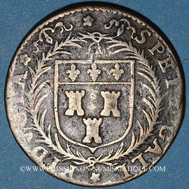 Monnaies Touraine. Mairie de Tours, Aub. Gallant, seigneur de Montorant. Jeton cuivre 1598