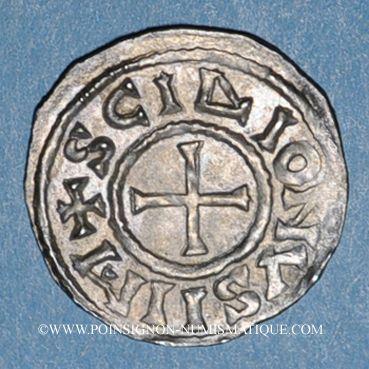 Monnaies Charles le Chauve (840-877). Denier. Saint-Denis