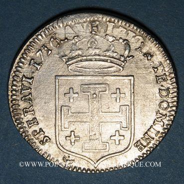 Monnaies Duché de Lorraine. Léopold (1697-1729). Teston 1716. Nancy
