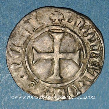 Monnaies Duché de Lorraine. René I (1431-1453). Denier. Nancy
