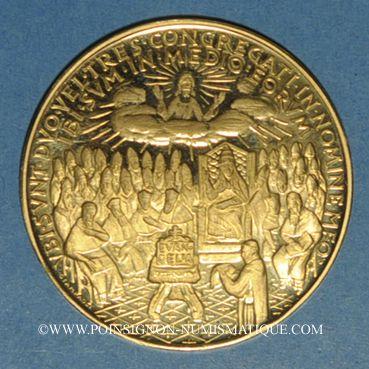 Monnaies Vatican. Jean XXIII. Concile Vatican II. 1962. Médaille or. 40 mm. 900 /1000. 35 g.