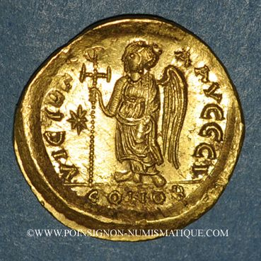 Monnaies Empire byzantin. Anastase (491-518). Solidus. Constantinople, 9e officine (507-518)
