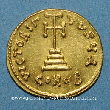 Monnaies Empire byzantin. Léonce (695-698). Solidus. Constantinople, 1ère officine. 695-698