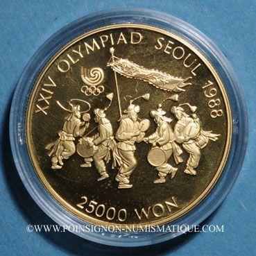 Monnaies Corée du Sud. République. 25 000 won 1986, J.O. (PTL 925/1000. 16,81 g)