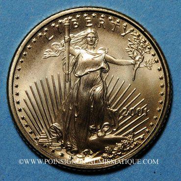 Monnaies Etats Unis. 5 dollars 2001. (PTL 917/1000. 3,39 g)