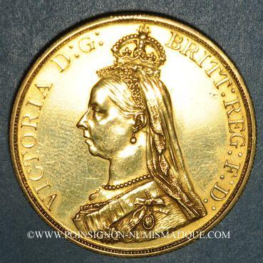 Monnaies Grande Bretagne. Victoria (1837-1901). 5 livres 1887. (PTL 917‰. 39,94 g)