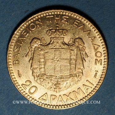 Monnaies Grèce. Georges I (1863-1913). 20 drachmes 1884. (PTL 900‰. 6,45 g)