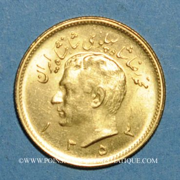 Monnaies Iran. Mohammad Reza Pahlavi, Shah (1320-58ES = 1941-1979). Pahlavi 1353ES (1974). 900 /1000. 8,13 g