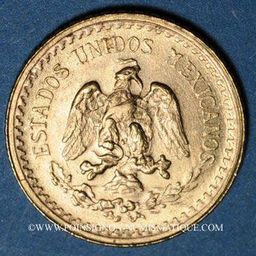 Monnaies Mexique. 2 1/2 pesos 1945. (PTL 900‰. 2,0833 g)
