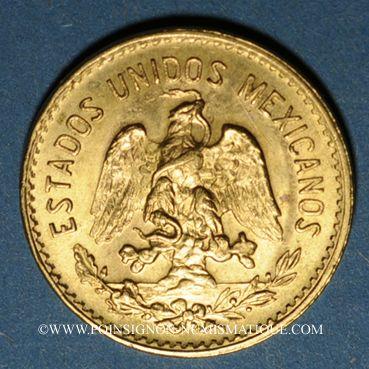Monnaies Mexique. République. 5 pesos 1906. (PTL 900‰. 4,16 g)