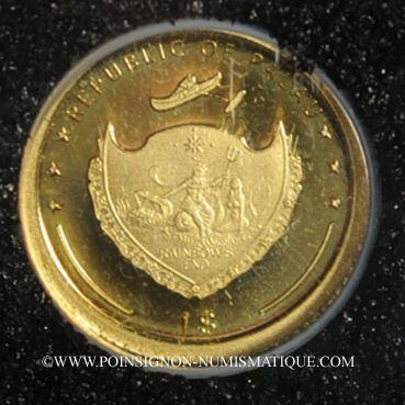 Monnaies Palau. République. 1 dollar 2006 (PTL 999‰. 0,5 g)