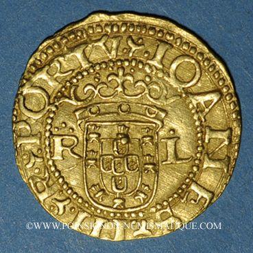 Monnaies Portugal. Jean III (1512-1557). Cruzado à l'écu aux huit chateaux, petit module