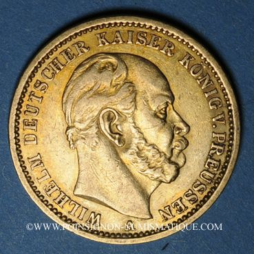 Monnaies Prusse. Guillaume I (1861-1888). 20 mark 1875A. (PTL 900/1000. 7,96 g)