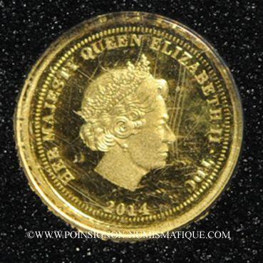 Monnaies Tristan Da Cunha. Elisabeth II (1952 -/). Half crown 2014 (PTL 999‰. 0,5 g)