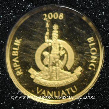 Monnaies Vanuatu. République. 20 vatu  2008 (PTL 999‰. 0,5 g)