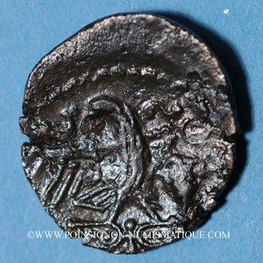 Monnaies Carnutes (région de Chartres). Catal (1ère moitié du 1er siècle av. J-C). Bronze classe I