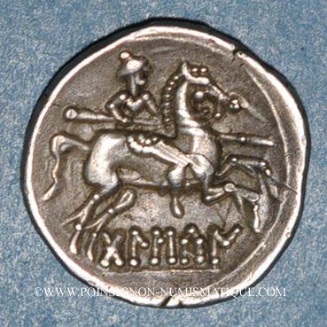 Monnaies Celtibérie. Bolskan. Denier, début 2e siècle av. J-C