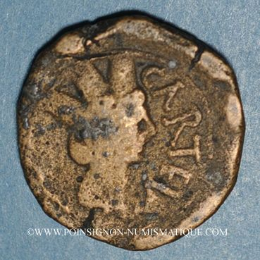 Monnaies Celtibérie. Carteia. Bronze, fin du 1er siècle av. J-C - début 1er siècle