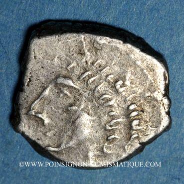 Monnaies Rutènes. Région de Rodez. Drachme au sanglier et lunules, 1er s. av. J-C