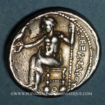 Monnaies Macédoine. Alexandre III le Grand (336-323 av. J.C.). Tétradrachme. Acé-Ptolémaïs. 330-327 av J-C