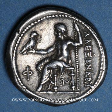 Monnaies Roy. de Macédoine. Alexandre III le Grand (336-323 av. J-C). Tétradrachme. Amphipolis, 294-290 av JC