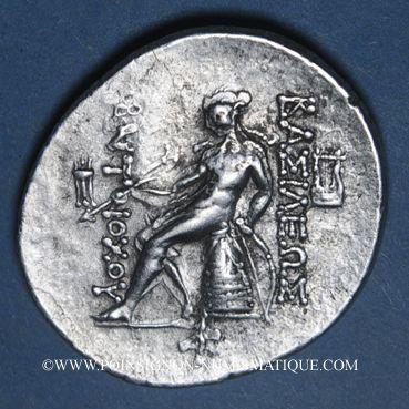 Monnaies Roy. de Syrie. Antiochus IV Epiphanes (175-164 av. J-C). Tétradrachme. Antioche, 175-173/2 av J-C