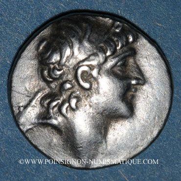 Monnaies Royaume de Cappadoce. Ariarathes VI Epiphane Philopator (130-115 av. J-C). Drachme, an 1