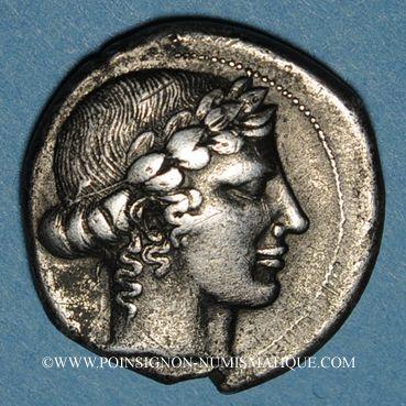 Monnaies Sicile. Léontini (455-430 av. J-C). Tétradrachme