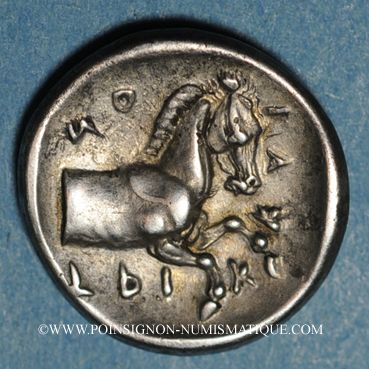 Monnaies Thessalie. Tricca. Hémidrachme, 480-400 av. J-C
